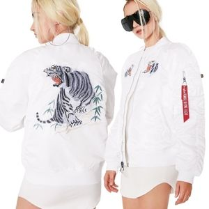 ALPHA INDUSTRIES MA-1 Souvenir Tiger Bomber Jacket